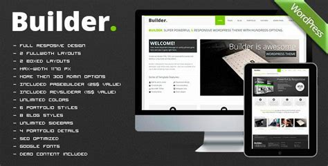 download themes builder builder v1 4 0 responsive multi purpose theme free