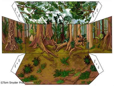 printable trees for diorama rainforest shoebox diorama printables quicards