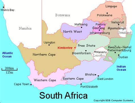 south africa map provinces and capitals map of south provinces with capital cities