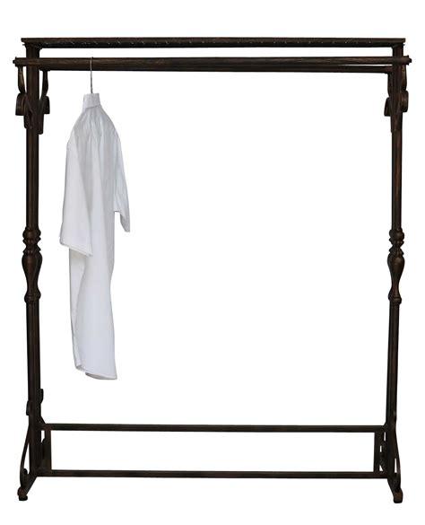 wardrobe clothes rail hatrack metal shelf stand antique
