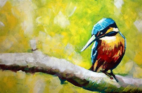 acrylic painting kingfisher quot kingfisher painting quot by samuel durkin redbubble