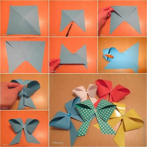 how to make craft with paper diy simple and easy paper gift bow usefuldiy