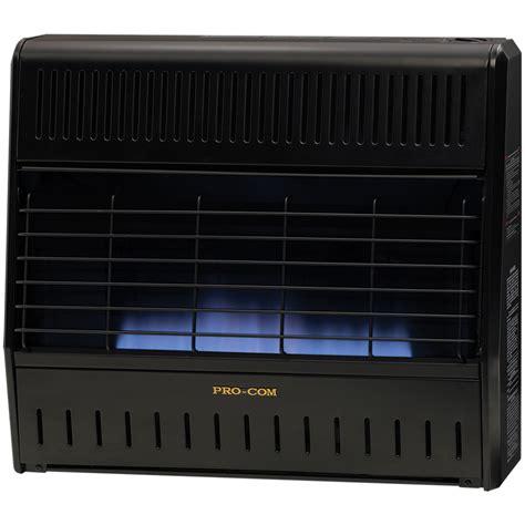 Garage Heaters Gas Ventless by Ventless Dual Fuel Blue Garage Heater 30 000 Btu