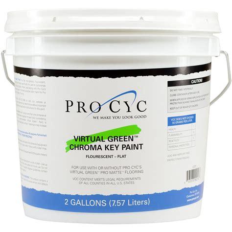 pro cyc green chroma key paint 2 gallons vgp2 b h