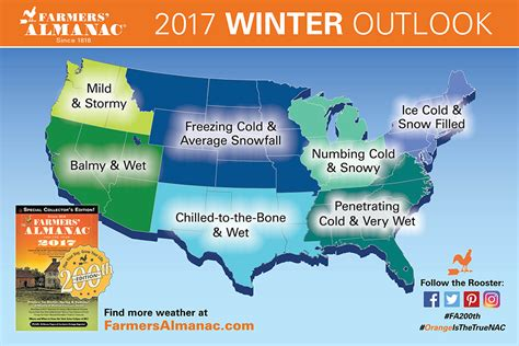 us weather map snow forecast farmers almanac 2017 winter outlook snowbrains