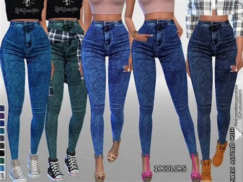 sims 4 high waisted jeans the sims resource high waisted dark denim jeggings by