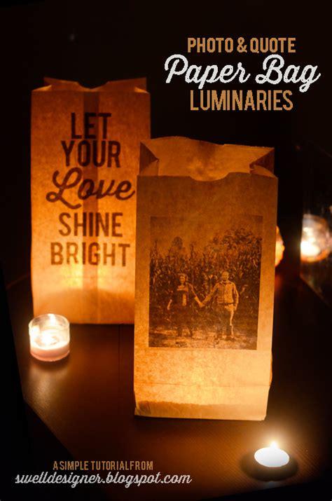 How To Make Paper Luminaries - photo quote paper bag wedding luminaries