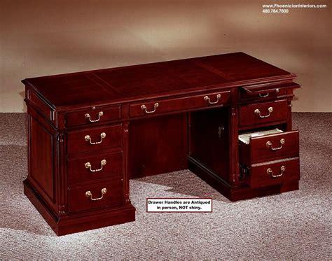 small junior executive desk cherry  walnut wood office furniture ebay
