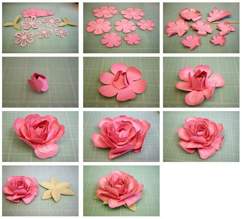 rose paper flower pattern 3d layered rose and penstemon paper flowers flowers