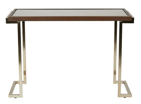 glass top foyer table foyer table with bronze glass top and chagne