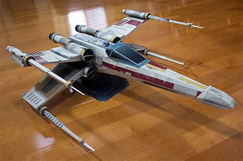 Wars Papercraft Models - starfighter x wars inspired paper model all