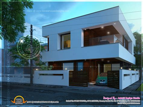 contemporary open balcony villa design kerala home