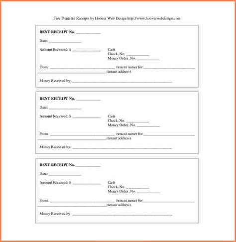 11 printable rent receipt return receipt form
