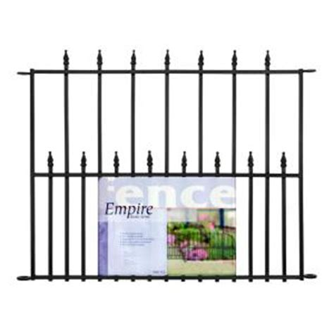 empire decorative steel fence panel at home depot metal