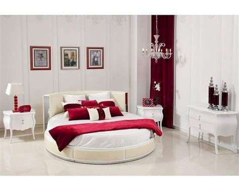 round bedroom sets italian bedroom set w modern round bed 44b199set