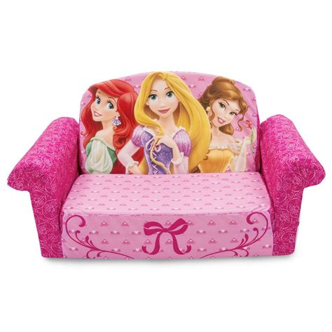 princess flip out sofa spin master marshmallow furniture flip open sofa disney