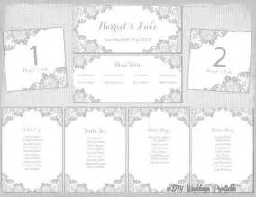 Wedding Table Planner Template Wedding Seating Chart Template Silver Gray Quot Antique Lace