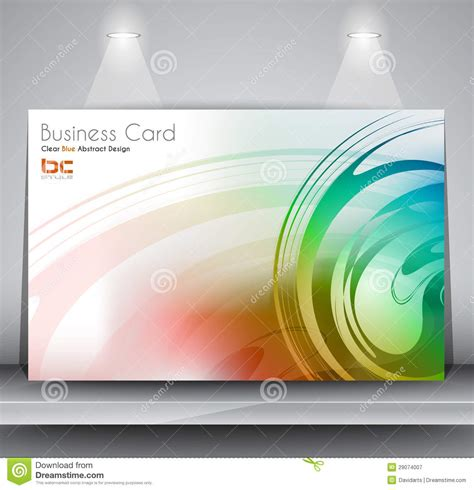business card background templates free business card design template stock illustration