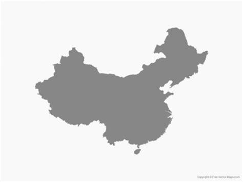 china map vector map of china single color vector ai eps png pdf free