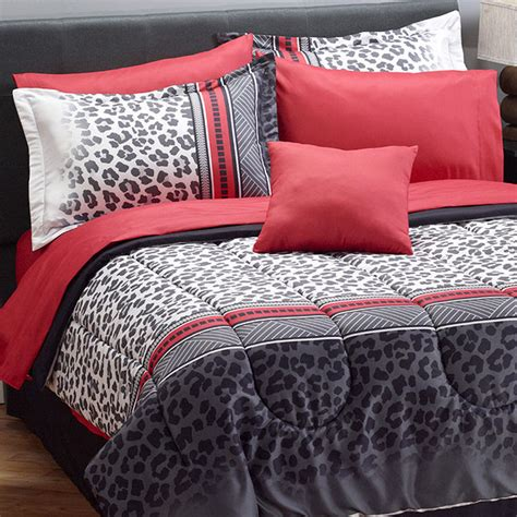 leopard bed set myhome snow leopard comforter set set queen bedding
