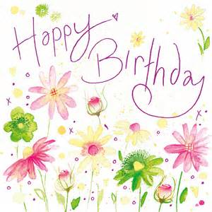 happy birthday w119 floral greetings cards by lyn thompson features pink foil http www
