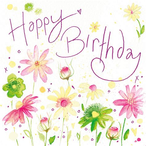 Happy Birthday Cards With Flowers Happy Birthday W119 Floral Greetings Cards By Lyn