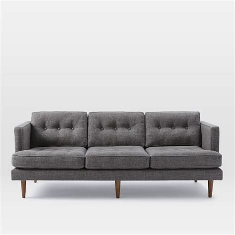 west elm peggy sofa peggy mid century sofa sofas and west elm