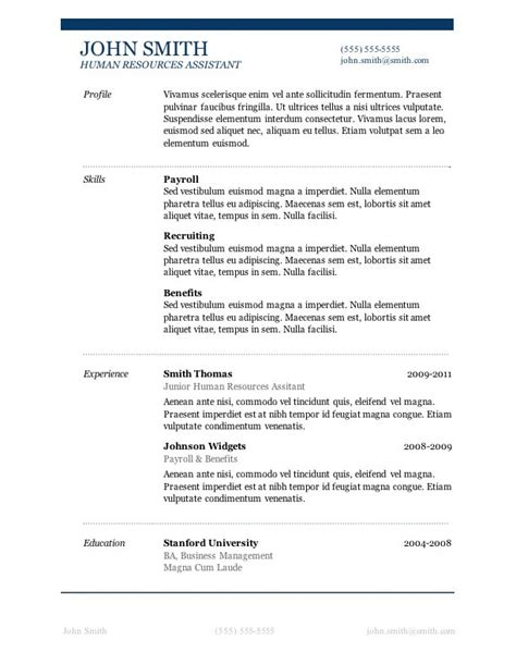 50 free microsoft word resume templates for download job