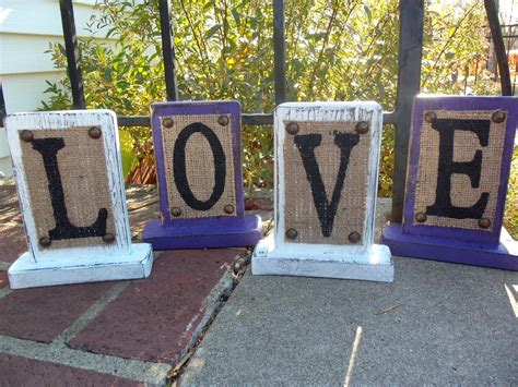 burlap home decor burlap sign home decor signage love wedding rustic purple