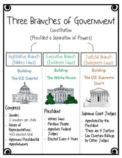 Section Quiz 3 2 Three Branches Of Government by Three Branches Of Government Foldable Freebie By S