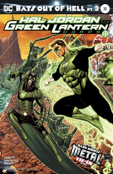 hal jordan and the dc comics rebirth spoilers hal jordan the green lantern corps 32 has dark nights metal bats