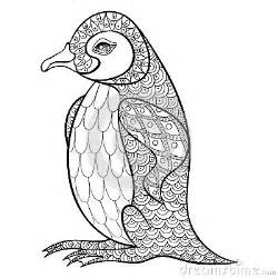 coloring pages king penguin zentangle illustartion adu stock vector image 62450109
