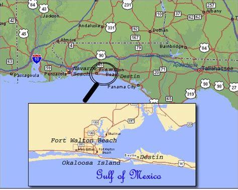 ft walton florida map destin florida map beaches