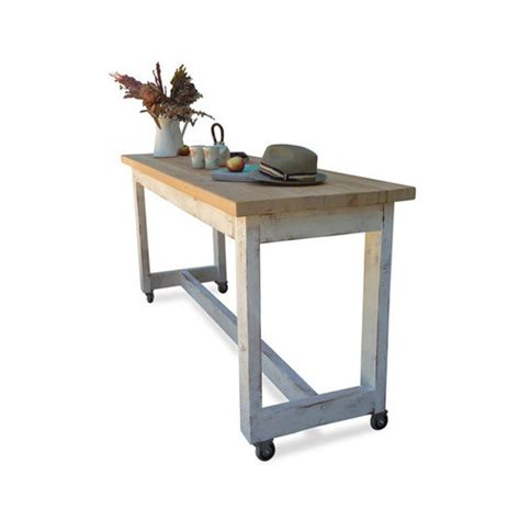 kitchen island table on wheels once upon a queenslander eco recycled solid timber high