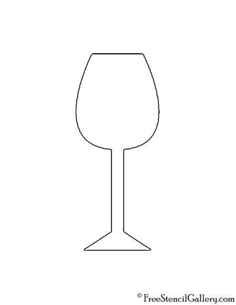 printable glass stencils wine glass stencil free stencil gallery