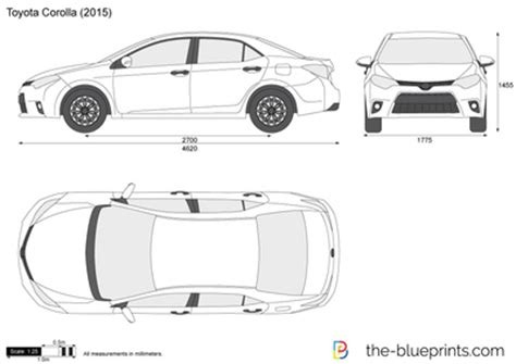 toyota corolla vector drawing
