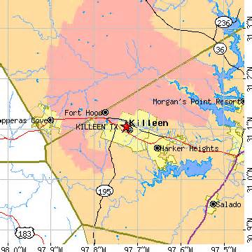 map of killeen and surrounding areas killeen tx population data races housing