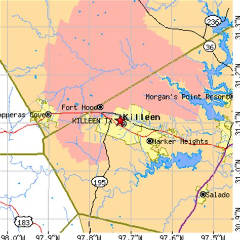 map of killeen texas and surrounding areas killeen texas tx population data races housing economy