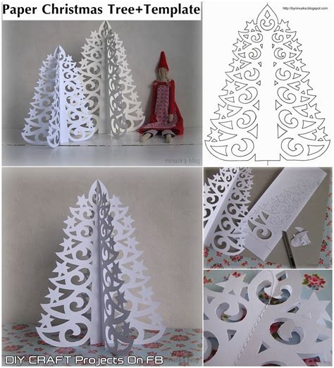 Free Paper Craft Ideas - diy paper tree with printable template diy