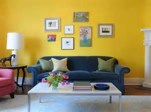 Yellow Livingroom Living Room Bright Yellow Wallpaper Decoration For