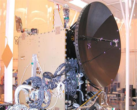 space images spacecraft after installation of high gain antenna