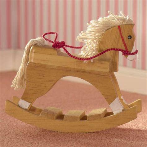 dolls house rocking horse the dolls house emporium wooden toy rocking horse