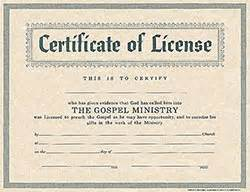 Software License Certificate Template Certificate License For Minister Broadman 0805472681