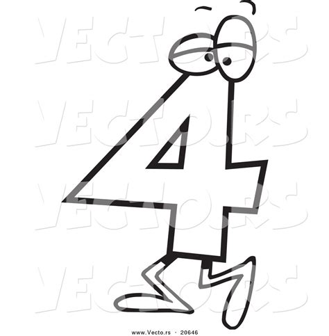 cartoon numbers coloring pages number four clipart clipart panda free clipart images