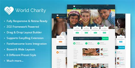 Zt Charity Responsive Joomla Template By Zooextension Themeforest Best Charity Website Templates
