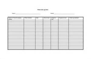 call log template 13 free word excel pdf documents