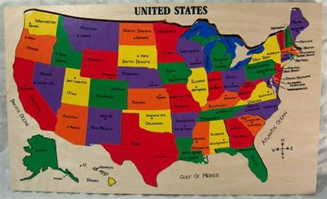 united states map puzzle states and capitals us map puzzle with state capitals teaching and by
