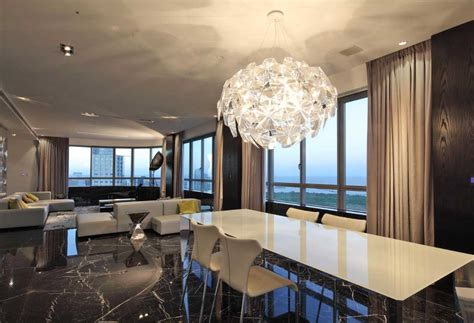 modern chandelier for dining room modern dining room chandelier over white dining table