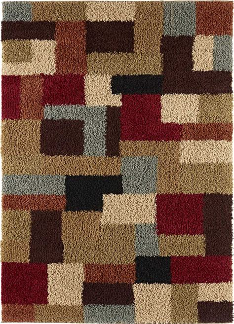 multi colored shag rug multi color contemporary shag geometric boxes area rug cubes modern block carpet ebay