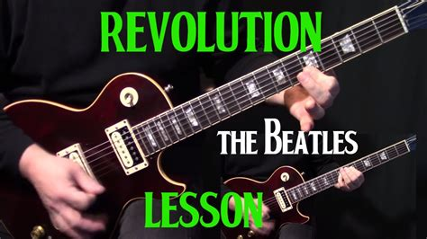 tutorial video guitar how to play quot revolution quot on guitar by the beatles